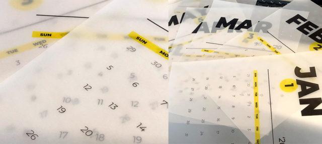 2020年カレンダー 無料ダウンロード トレーシングペーパー