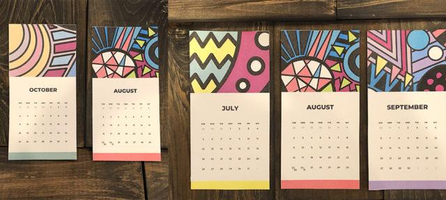 2020年カレンダー 無料ダウンロード ABSTRACT GEOMETRY