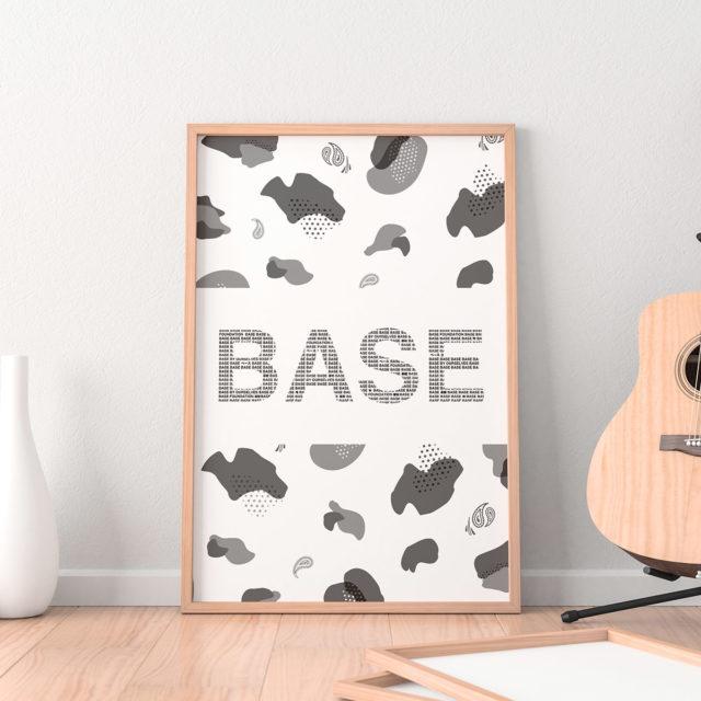 """アートプリント ポスター """"BASE"""" ホワイト"""
