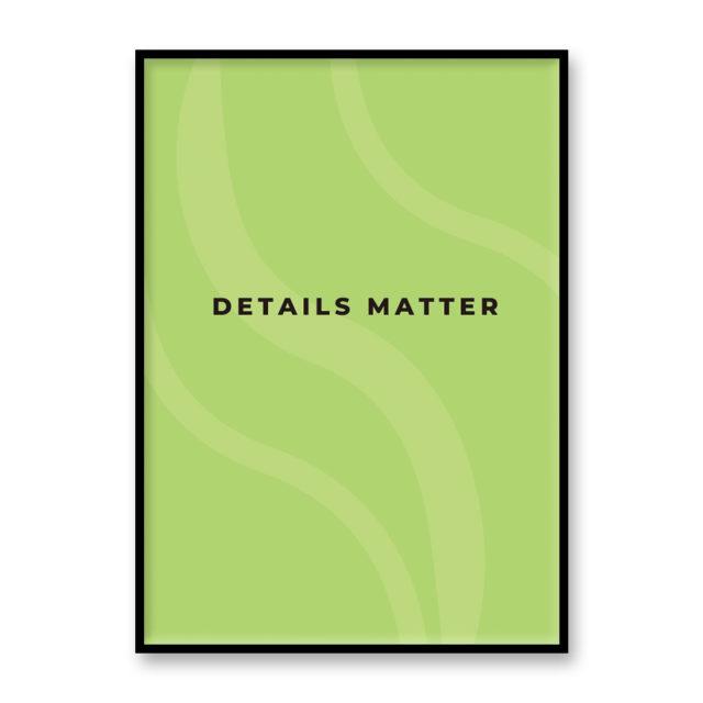 """アートプリント/ポスター """"DETAILS MATTER"""" メロングリーン"""